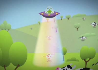 UFO Cow Abduction Animation
