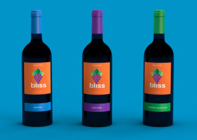 Bliss Wine Label Design