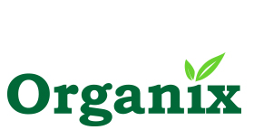 Organix logo redesign using shades of green