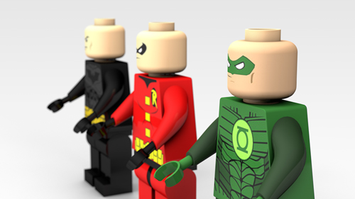 3D Modeled Lego Figures