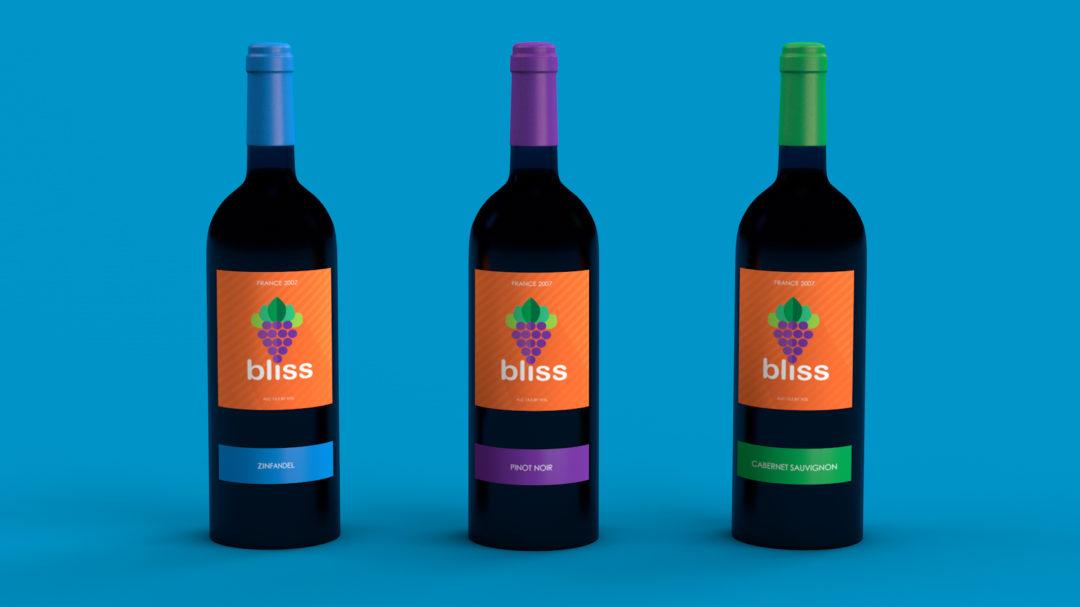 Bliss Wine Label Design
