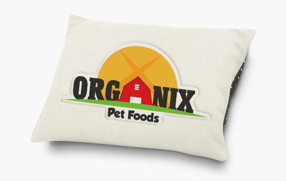 Organix Pet Food dog pillow brand extension