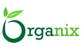 Organix logo redesign using shades of green