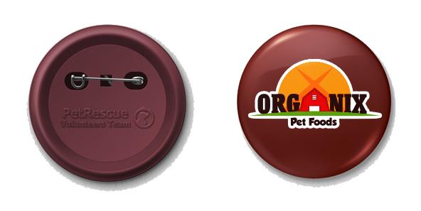 Organix Pet Food pin brand extension