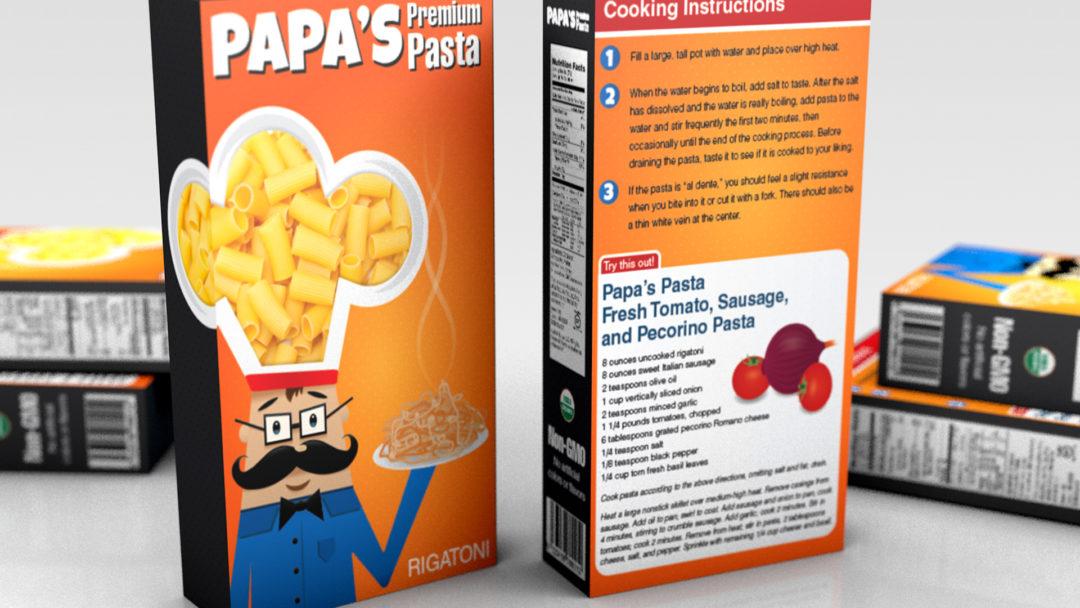 Pasta Box Package Design