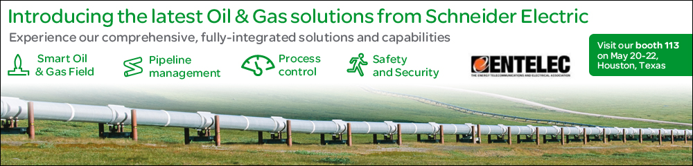 Trade show web header for ENTELEC in Texas by Schneider Electric