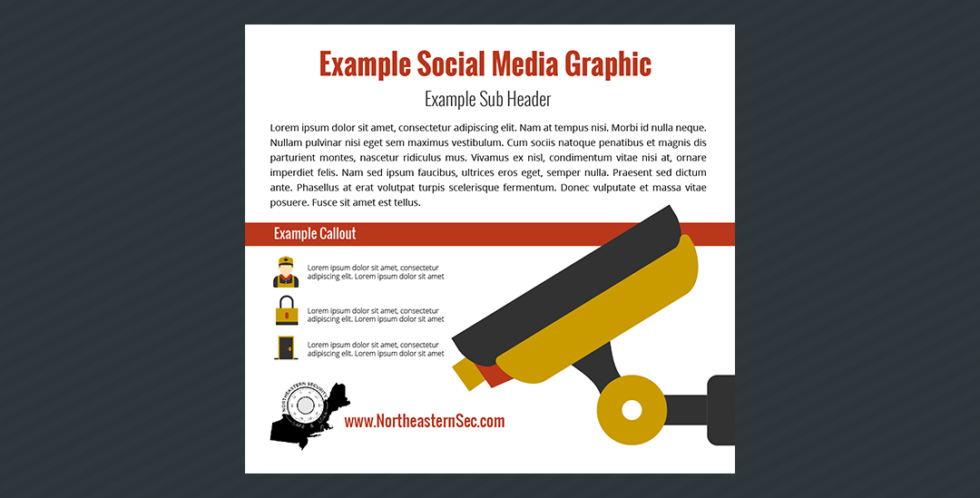 Example social media graphic, flat design.