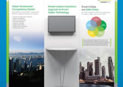 Trade show graphic design for Schneider Electric