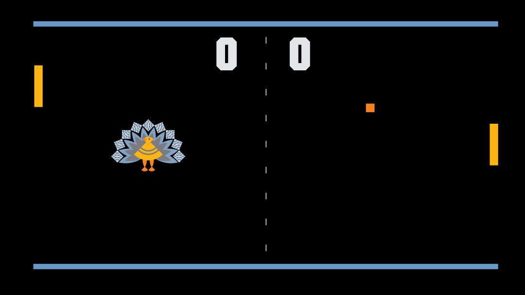A Turkey Pong game used in an animated Thanksgiving card for clients.